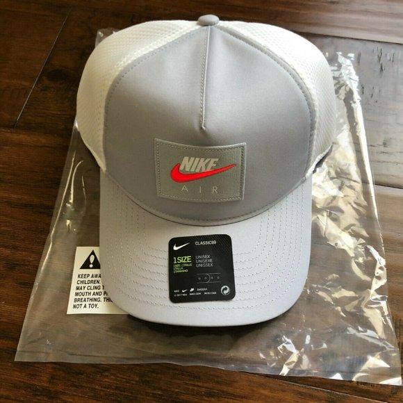 Nike Air adjustable snapback grey white hat cap